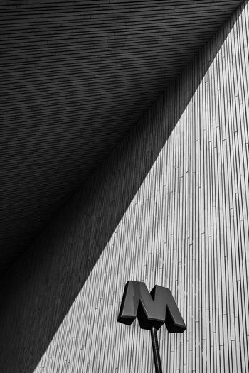 M in the sun Abstract Architecture Pattern Built Structure No People Shadow Sunlight Wall - Building Feature Day Indoors  Nature Sign Communication Arrow Symbol Low Angle View Wood - Material Representation Full Frame Ceiling Focus On Shadow