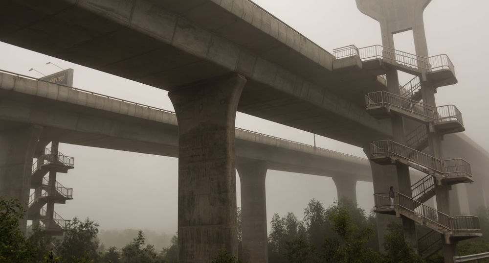 Arch Architectural Column Architecture Bridge Bridge - Man Made Structure Built Structure Column Connection Day Engineering Foggy Morning Foggy Weather Low Angle View Nature No People Outdoors Sky SUPPORT Tourism Travel Destinations