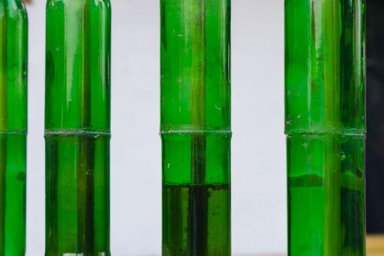 Full frame shot of green glass