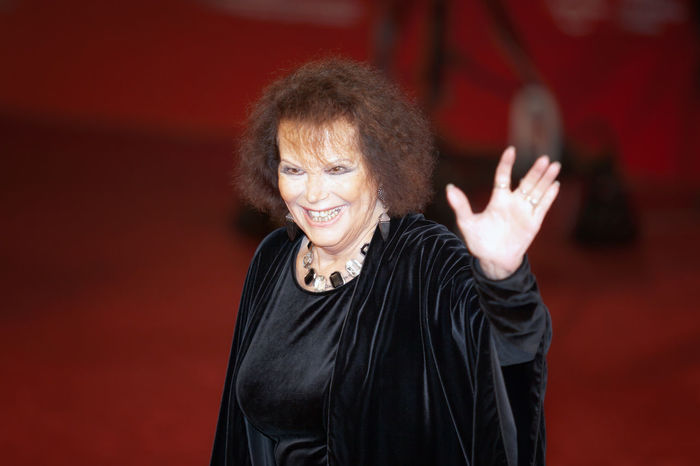 Rome, Italy - October 13, 2016: Rome Film Festival, Eleventh Edition. Red carpet with Moonlight pictured pictured Claudia Cardinale. Actres Actress Cinema Claudia Cardinale Famous People Indoors  Italian Actress Red Carpet Rome Film Fest