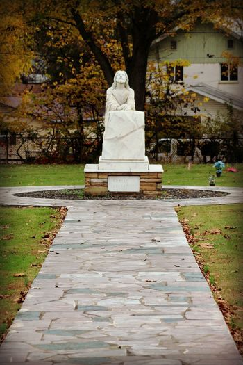 Jesus Statue Jesus Jesus Christ Jesus Christ My Savior  Jesus Saves JesusSaves Religious Art Architecture Built Structure Day Human Representation Jesuschrist Male Likeness Nature No People Outdoors Park - Man Made Space Religion Religions Religious  Religious Architecture Sculpture Statue Stone Material Tree Water