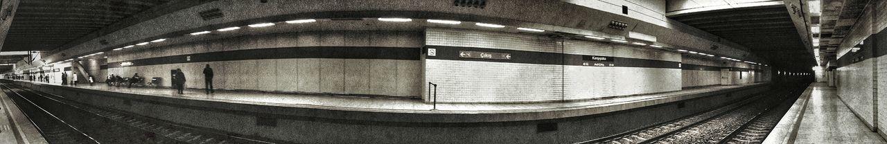 Panoramic Panorama Metro People B&w Photography
