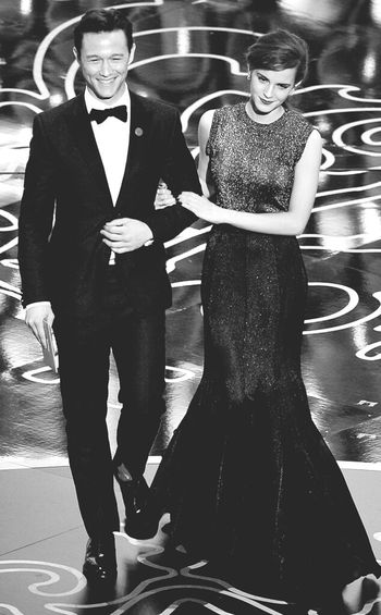 best couples at the Oscars2014 Emma Watson Joseph Gordon-Levitt