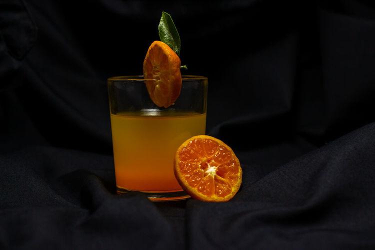Close-up of orange juice