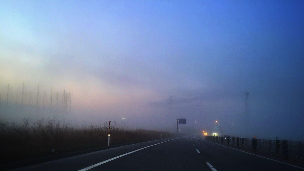 今朝は霧。 Foggy Sunrise Iosphotography IPhoneography Iphoneonly