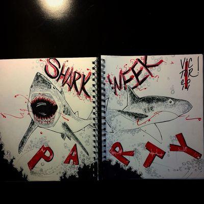 Something I Drew for my sisters Sharkweek party :!) Enjoying Life as a Illustrator