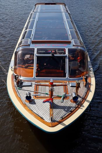 Binnenschifffahrt Canal Canals And Waterways Amsterdam Nautical Vessel Mode Of Transportation Water Transportation High Angle View Day No People Passenger Craft