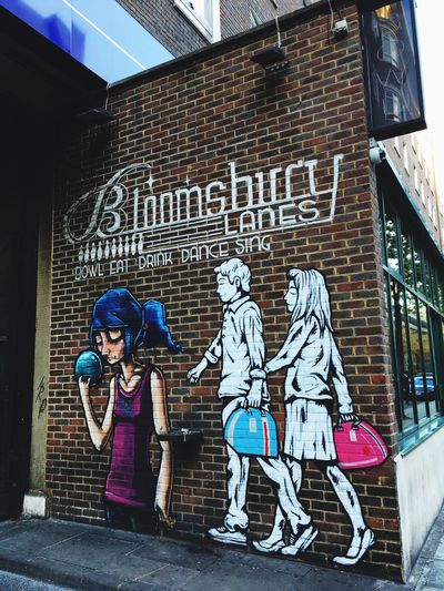 Bowling London Graffiti Building Exterior Art And Craft Architecture Built Structure Text Creativity Wall Brick Brick Wall Mural Street Art Wall - Building Feature Western Script