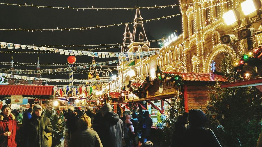 GUMs christmas market. Moscow, Red Square Moscow Market Nignt Christmas Market Russia Red Square First Eyeem Photo