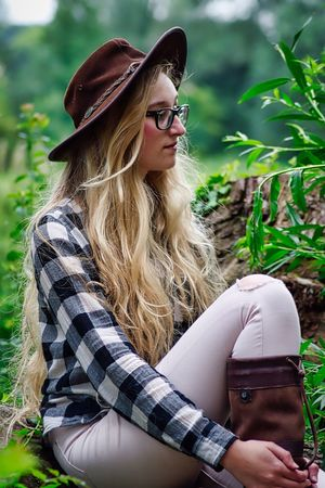 Young Adult Young Women Real People Women Lifestyles One Person Eyeglasses  Long Hair Blond Hair Outdoors Beautiful Woman Sitting Day Nature Portrait Adult One Young Woman Only People EyeEmNewHere First Eyeem Photo The Week On EyeEm Blonde Nature Countrygirl Country Girl