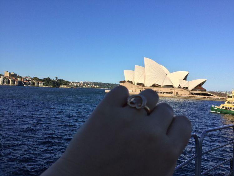 My Year My View Operahouse Sydney, Australia MYLOVESOFMYLIFE Happiness Rings 💍 Swarovski Ring Heart ❤ Aussie Mydreams