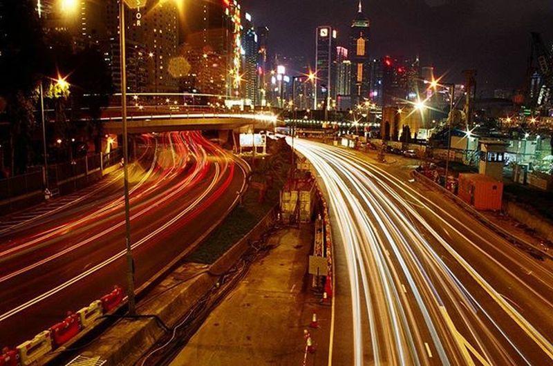 This is my home Causewaybay  Kodak400 Minoltax700 Vivitar28mm Nightofhk Longexposure Kodak_photo