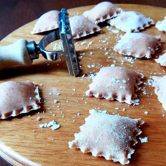 The sky is grey, a fine rain is picking at the window, hat tea in my hands, a scarf around my neck; flour all over the kitchen but that's careless, Homemade Handmade Vegan Ravioli Pasta are ready, with a new dough of Lentils flour and a filling of Cashew Raw Cheese ... nice Saturday to everyone.. Foodphotography Photographer Foodporn Vegan Food Vegansofig Veganfoodshare 2016 January Fighter Whatveganseat Vegangirl Chef Cheflife Yummy Nomnom