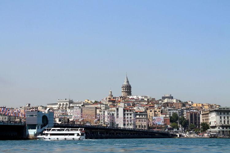 Istanbul March 2015 Cityscape Galata Tower Galatakulesi History Human Settlement Istanbul Residential District Travel Turkey