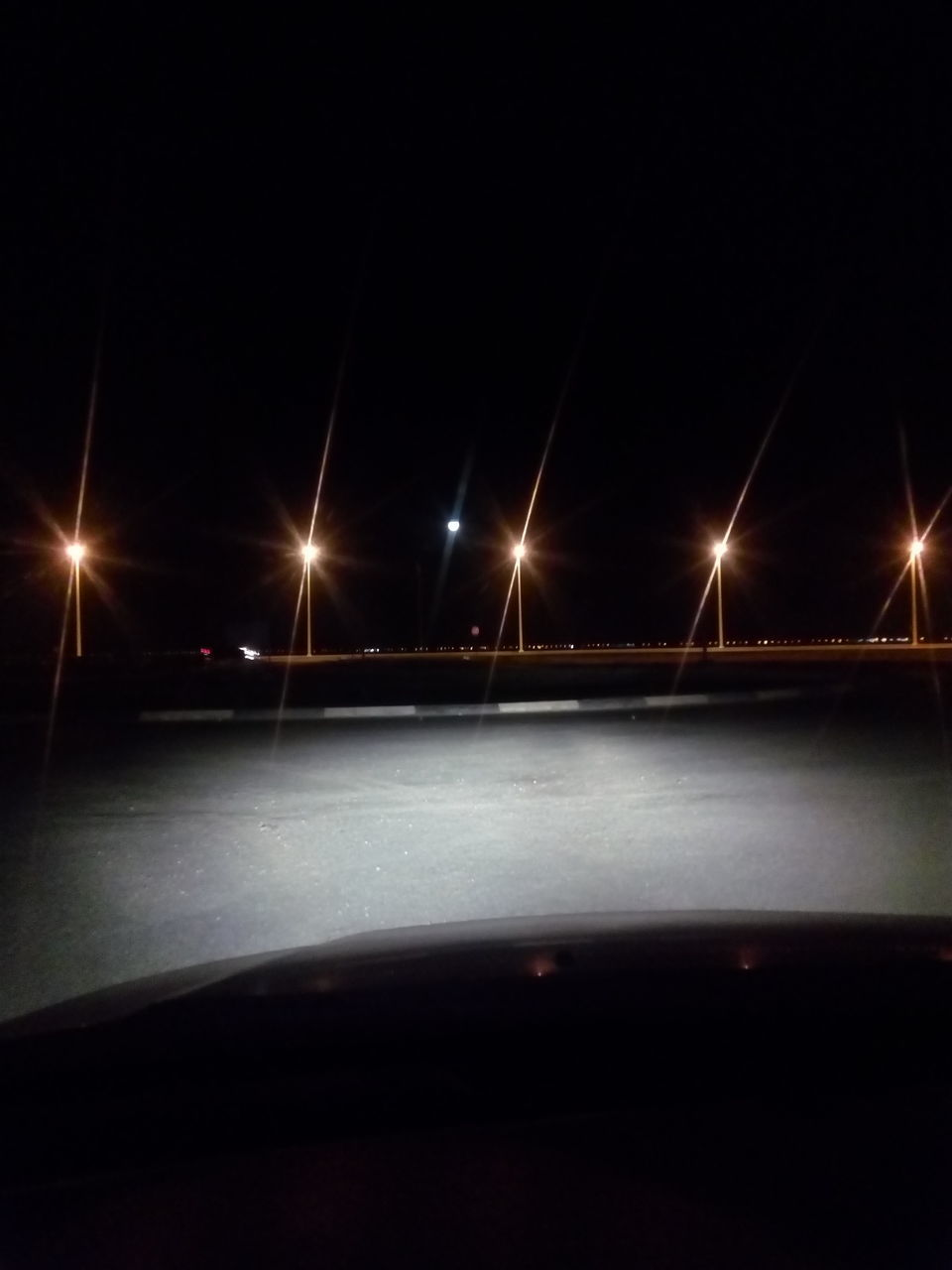 illuminated, night, transportation, no people, street light, spotlight, outdoors, sky