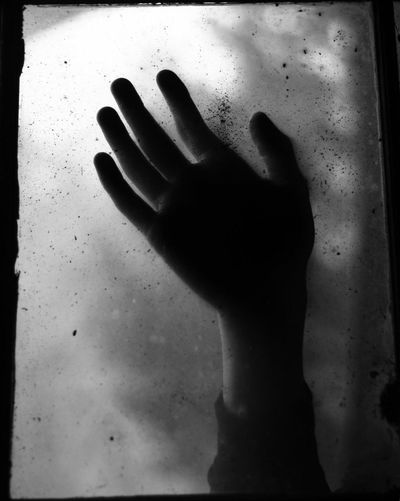Human Hand Human Body Part One Person Palm Close-up Eerie Beautiful Dirty Window