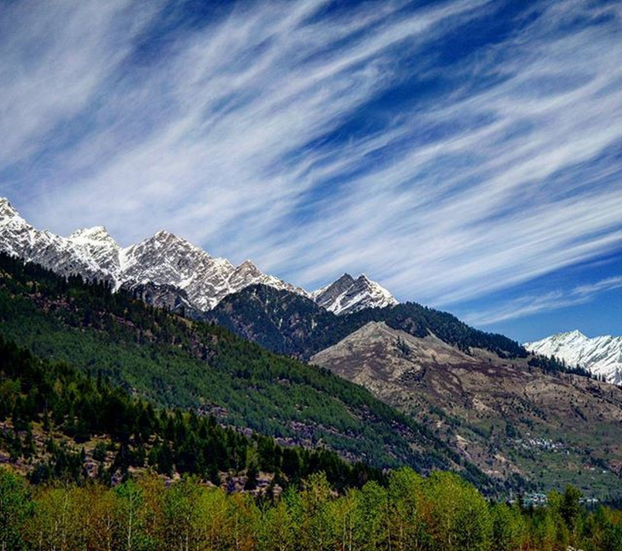 mountain, landscape, scenics, nature, mountain range, beauty in nature, sky, tranquil scene, cloud - sky, no people, outdoors, tranquility, day, snow, tree