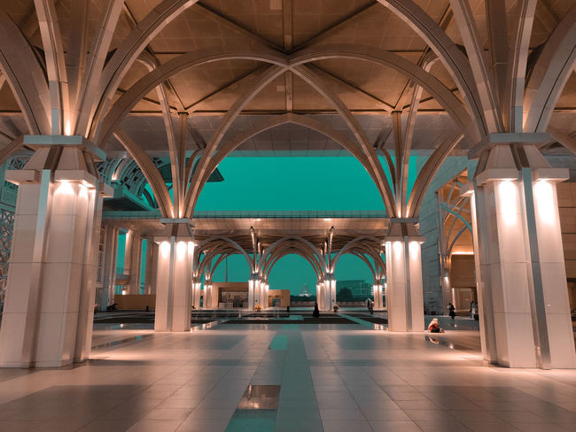 Putrajaya Mosque Mosque Putrajaya Putrajaya, Malaysia City Old-fashioned Luxury Pastel Colored Beauty Architecture Arch Natural Arch Interior Architectural Feature Symmetry Architectural Column