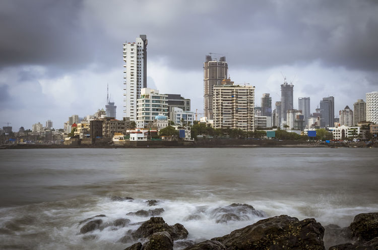 Mumbay city view from Hajiali Dargah Dargah Mahalaxmi Mumbai Architecture Building Exterior Built Structure City Cityscape Cloud - Sky Day High Rise Building Modern Mosque Nature Outdoors Sea Sky Skyline Skyscraper Storm Cloud Tower Travel Destinations Urban Skyline Water Waterfront