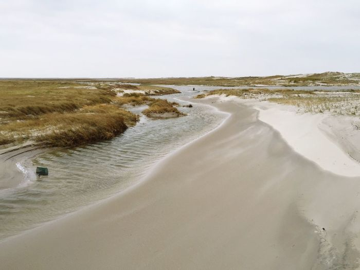 High Angle View Of Beach At Sankt Peter-Ording