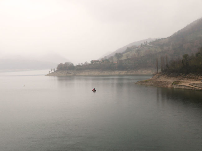 Fog Foggy Lago Del Turano Lake Mist Nature Scenics Tranquil Scene Tranquility Waterfront