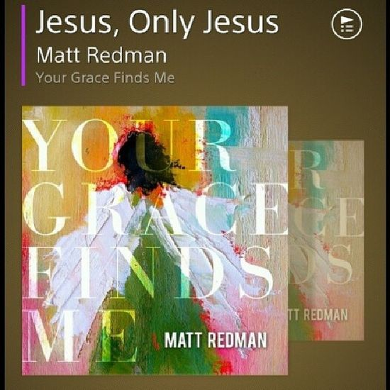 """ Who can make the blind to see? Who holds the keys that set us free? He paid it all to bring us peace Jesus, only Jesus"" by @mattredmanmusic"