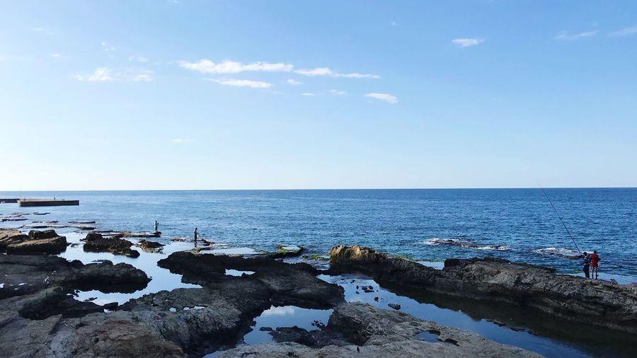 Just blue. Sea