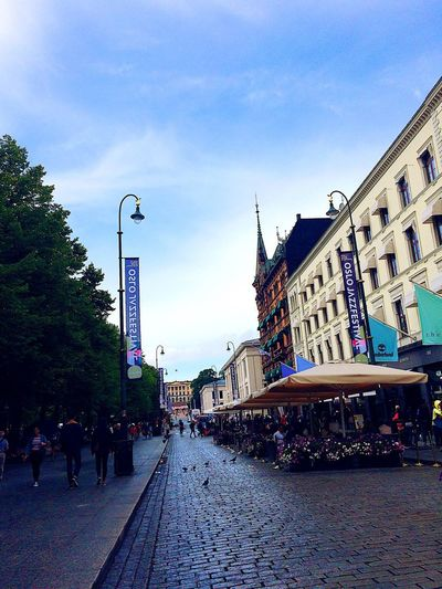 Architecture Building Exterior Built Structure Sky Street Large Group Of People City Outdoors Day Men Real People City Life Road Women Travel Destinations People Adult Norway Oslo Oslo, Norway Visitnorway Visitoslo