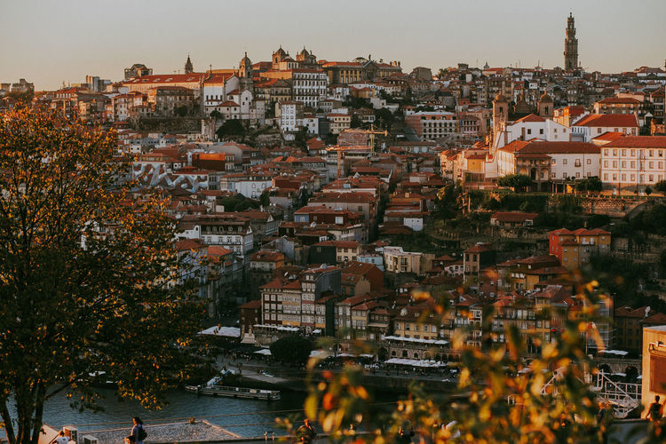 Architecture Building Exterior Built Structure City Cityscape Building Crowd Residential District Crowded High Angle View Community Town City Life Travel Destinations TOWNSCAPE Portugal Portrait Sunset