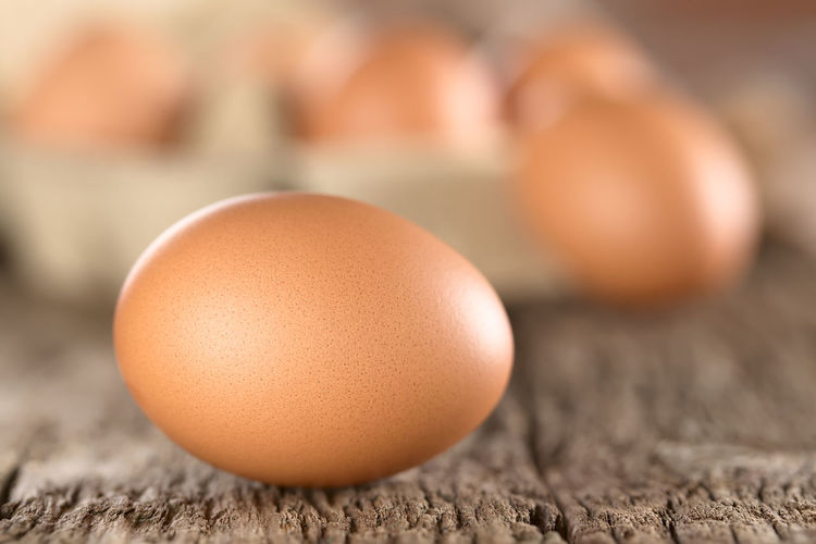 Raw brown egg with egg box in the back (Very Shallow Depth of Field, Focus on the front of the first egg) Cooking Horizontal Raw Rustic Animal Egg Baking Brown Chicken Egg Egg Egg Shell Food Food And Drink Ingredient Nutrition Protein Raw Food Uncooked