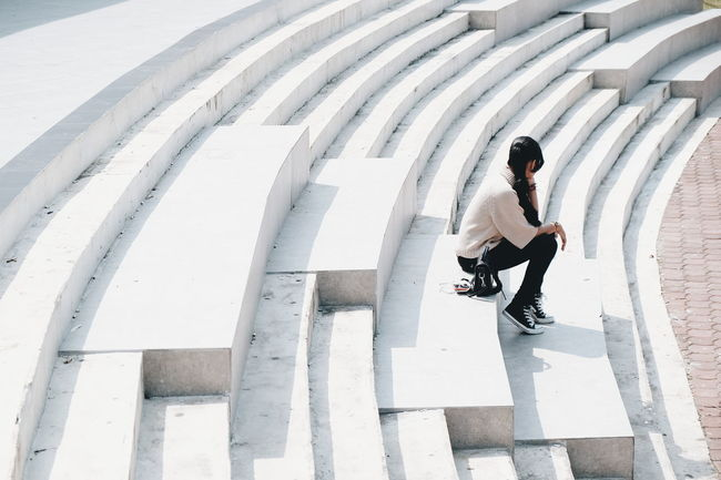 Alone Sitting Day Outdoors Old-fashioned Still Life Street Activity Fashion Steps And Staircases Alone Loneliness Lonely Lonely Girl Lonely Objects Lonely Woman Lonely Place  Alone In The City  Alone But Not Lonely Alone Girl Alone In The World Quite Moments Broken Heart Broken Home