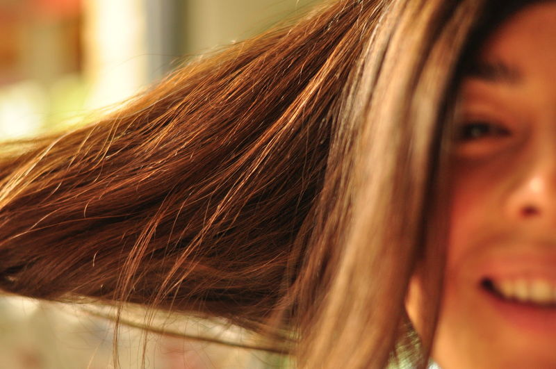 Beauty Brown Hair Close-up Contemplation Day Focus On Foreground Headshot Human Face Human Hair Leisure Activity Lifestyles Long Hair Outdoors Person Portrait Young Women EyeEm Portraits Hair Gold Uniqueness Shades Of Brown