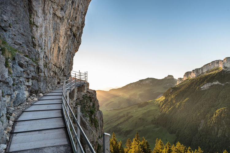 The sun's just around the corner Alps Corner Early Morning Landscape Landscapes Morning Mountains Nature Nature_collection Outdoors Path Rock Soft Summer Sun Sun Beams Sunrise The Great Outdoors - 2017 EyeEm Awards Breathing Space A New Beginning Capture Tomorrow It's About The Journey