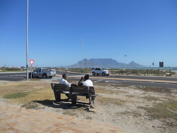 Rear View Sky South Africa Cape Town Tabel Mountain Tafelberg Tranquil Scene Togetherness Everlasting love - Cape Town Connected By Travel