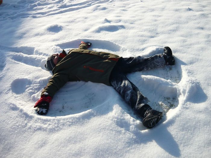 It's Cold Outside Snow Angel Snow Kids Kids Being Kids Kids Having Fun Fun Before IPads Play Capturing Freedom