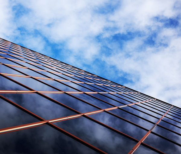 Offices and skies . Cloud - Sky Sky Low Angle View Architecture Nature Built Structure Building Exterior No People Day Fuel And Power Generation Pattern Blue Outdoors Environmental Conservation Renewable Energy Alternative Energy Solar Energy Building Office Building Exterior Electricity  Skyscraper Power Supply Sustainable Resources Abstract Photography Abstract My Best Photo