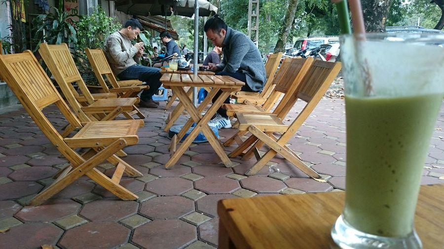 A corner of cafe shop in Ha noi street.