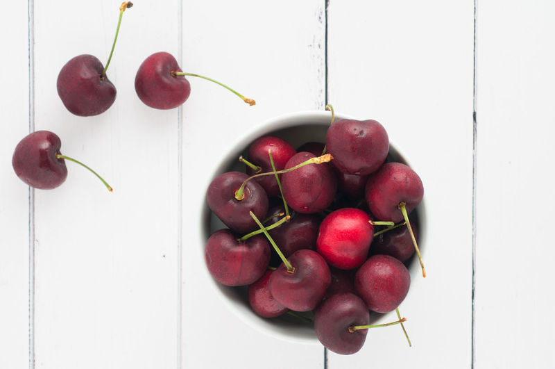 red cherries in