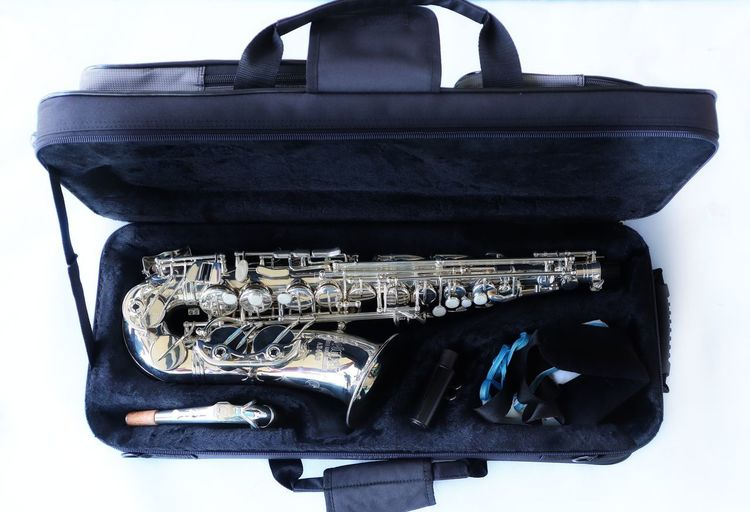 Music Musical Instrument Classic Clarinet Jazz Music Saxophone White Background Close-up