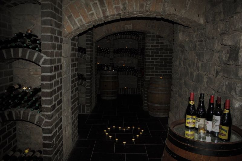 Kilronan Castle, Co Roscommon, Ireland, Wine Cellar, Dungeon, History, Irish, Castle, Wine Bottle Wine Wine Cellar Alcohol Bottle Indoors  Food And Drink Cellar Table No People Luxury Winery Wine Rack Food And Drink Industry Arrangement Winemaking Drink Architecture Illuminated Day EyeEmNewHere