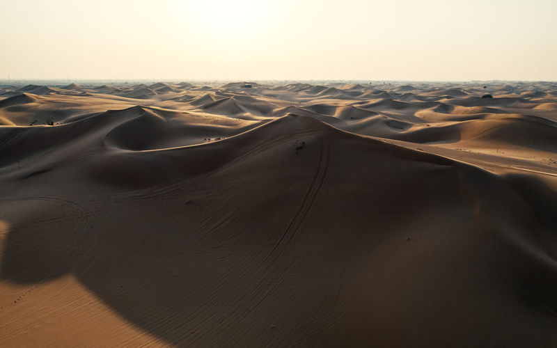 Desert Sand Dune Arid Climate Landscape Sand Land Climate Remote Outdoors Drone Photography