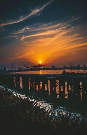 Sunset at port grand Sunset Beauty In Nature Lovethynature Beautiful Nature Beautiful Pakistan Karachi EyeEm Throwback Wanderlust Travelphotography Port Grand