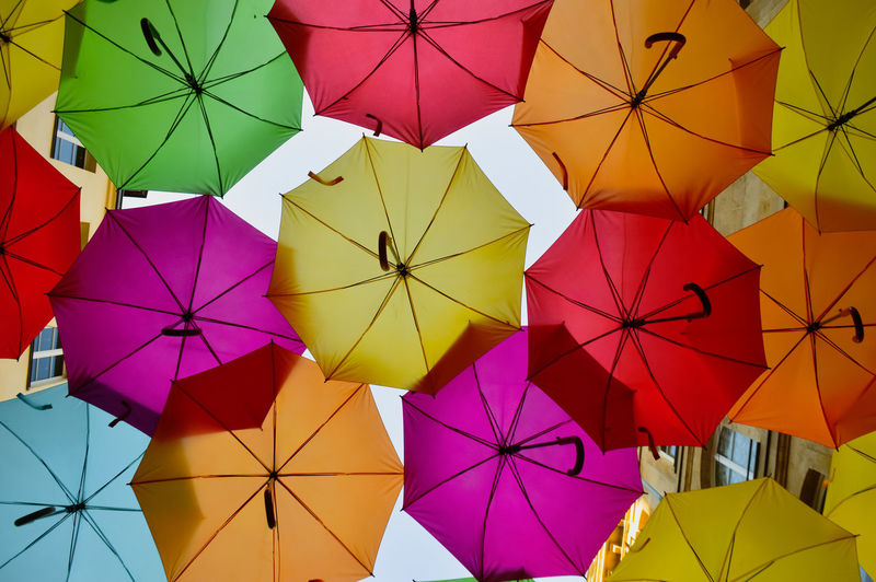 Coloured sky Outdoors Paris Umbrella Umbrellas Umbrella Sky Repetition Pattern Pattern, Texture, Shape And Form Travel Travel Destinations Colors Colorful colour of life Sunlight Multi Colored Protection Security Low Angle View No People Full Frame Hanging Large Group Of Objects Choice Day Variation Close-up Backgrounds Safety Creativity Still Life Ceiling Purple Creative Street Streetphotography Focus Lookingup