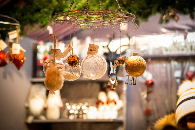 Christmas Ornament Christmas Market Toronto Winter Gold Glitter Sparkle