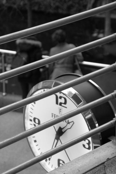 Close-up Day No People Outdoors Minute Hand Clock Clocks Enjoying Life Taking Photos Train Station Atocha Hanging Out Check This Out Street Photography Black And White Streetphotography Blackandwhite Travel Full Length High Angle View Detail Time