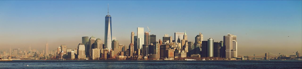 Panoramic View Of Cityscape By East River Against Sky During Sunset