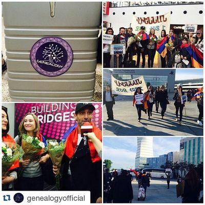 Repost @genealogyofficial ・・・ Very warm Welcome in Vienna. 🇦🇹 Armenia Eurovision ESC2015 Genealogy Buildingbridges FaceTheShadow Austria Vienna