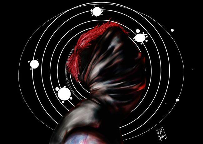 Red One Person Concentric Black Background Amazing Love ♥ TwentyOnePilots Tyler Joseph Josh Dun