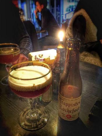Havin a beer at Belgobaren Streetphotography Taking Photos IPhoneography Stockholm Sweden Beer Beerporn Trappist Beer Trappist