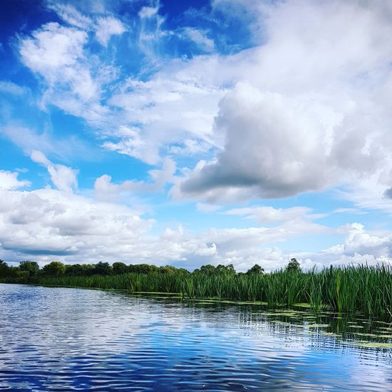 Cloud - Sky Outdoors Water Scenics Beauty In Nature River View River Collection River Ouse from a canoe